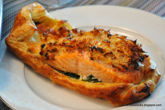 Glamah's Dungeness Crab, Spinach and Salmon En Croute Image